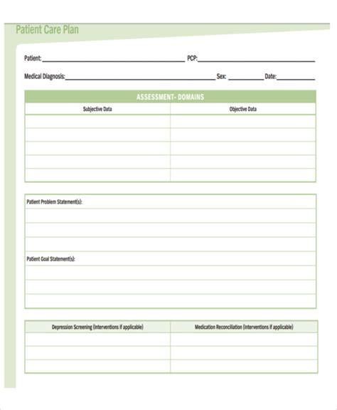 Nursing Care Plan Format Template by 5 Basic Care Plan Templates 5 Free Word Pdf Format