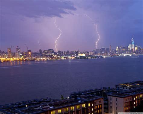 lightning new york city 4k hd desktop wallpaper for