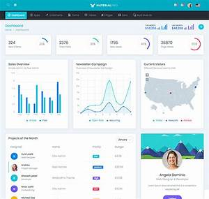 material pro admin template bootstrap 4 admin template With admin home page templates
