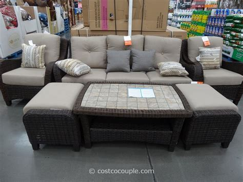 agio international 6 fairview woven seating set