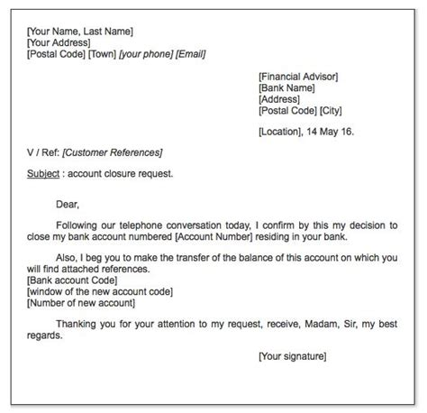 account closure request letter httpexampleresumecv