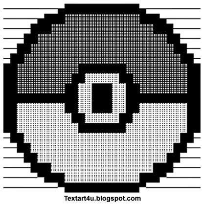 pokeball copy paste ascii text art cool ascii text art