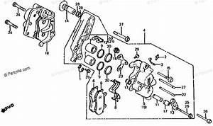 Honda Motorcycle 1982 Oem Parts Diagram For Front Brake