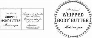 Honey scented homemade whipped body butter for Body butter labels