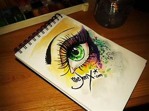 Drawing Colorful Splatter Eye