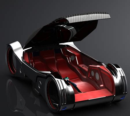 Icar Futuristic Ecofriendly Concept Car In The Year 2027