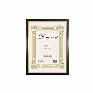 48 units of 85quot x 11quot document frame w gold border at With 8 5 x 11 document frame bulk
