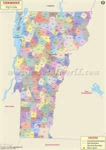 Vermont Zip Code Map