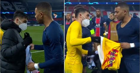 PSG vs Barcelona: Mbappe shared moment with Pedri after ...
