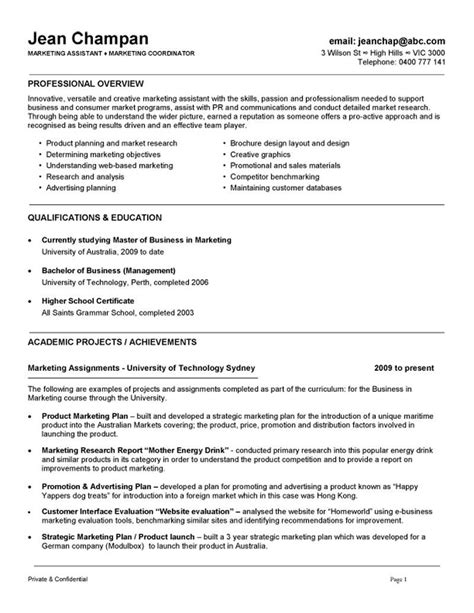 Marketing Coordinator Resume by Marketing Assistant Resume