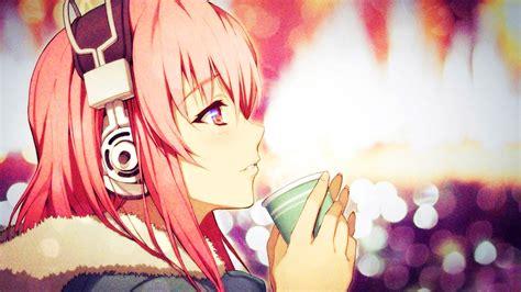 anime  nitroplus super sonico pink hair profile