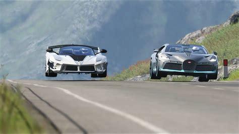 Bugatti divo vs bugatti chiron the bugatti divo is a chiron designed for corners only 40 will be made, and yep, they're already. Ferrari FXX K Evo vs Bugatti Divo at Highlands - YouTube