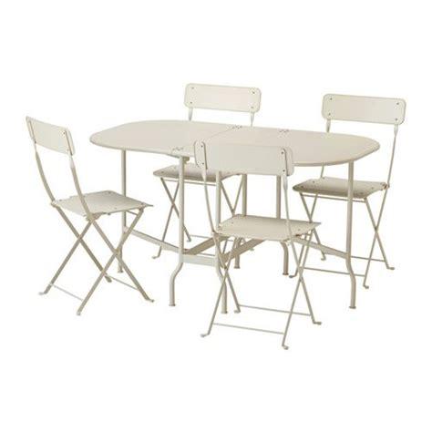 ikea chaises pliantes saltholmen table 4 chaises pliantes extérieur beige