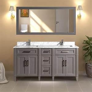 Vanity, Art, 60, U0026quot, Double, Sink, Bathroom, Vanity, Combo, Set, 5