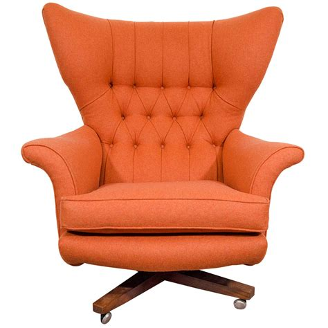 mid century wing back lounge chair by paul conti