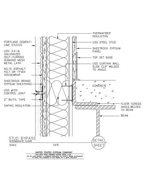 usg design studio steel decking  details