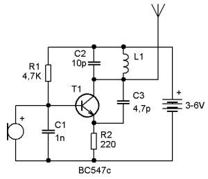 Simple Miniature Transmitter Elektronik