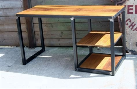 Bureau Metal Bois Bureau Moderne Pas Cher