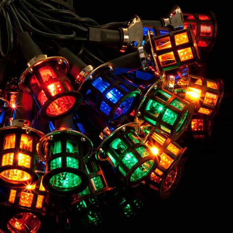 noma  victorian lanterns christmas lights multicolourgreen cable  bosworths  shop