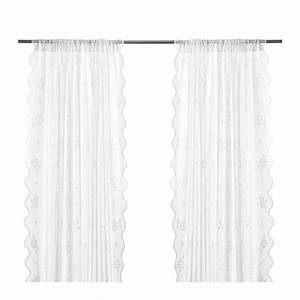 ikea myrten lace curtains 1 pair white great for layered With lace curtains ikea