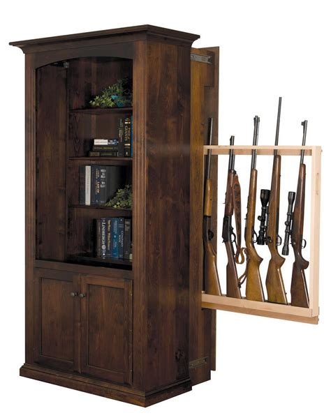 Bookcase With Gun Cabinet by American Made Bookcase With Gun Cabinet From