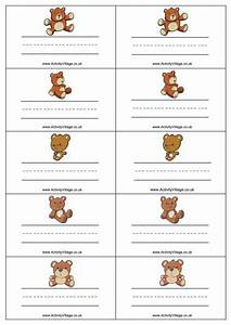 teddy name badges With name the bear template