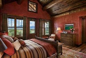 Rustic bedrooms design ideas canadian log homes for Interior paint colors for rustic homes