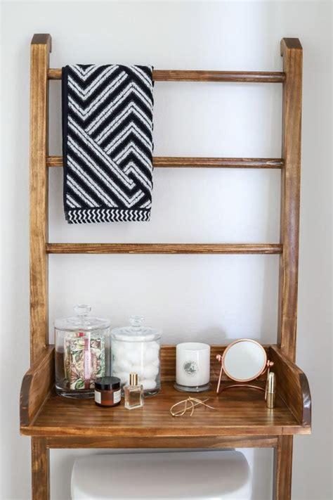 diy leaning ladder shelf   bathroom room makeovers  suit  life hgtv