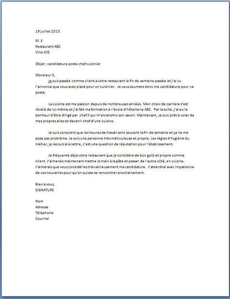 lettre de motivation cuisiner lettre de motivation cuisinier lettre de motivation 2018