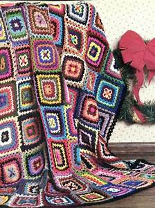 Colorful Holiday Scrap Afghan  Crochet Pattern Instructions