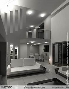 maison toit terrasse grande fino etec With plan de maison a etage 5 maison toit terrasse hauteville 2 etec