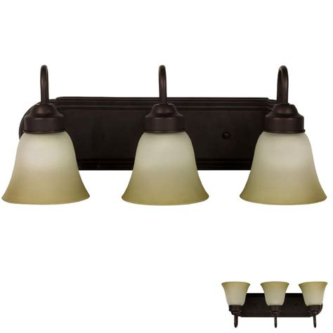 oil rubbed bronze  globe bathroom vanity light bar