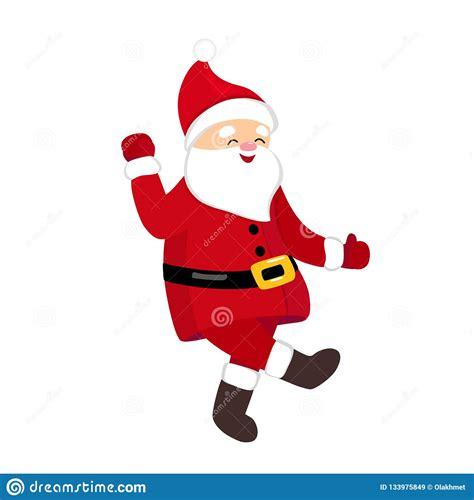 Funny Santa Dancing Hype Move Quirky Cartoon Comic