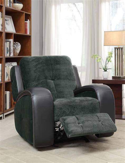 homelegance flatbush glider recliner chair textured