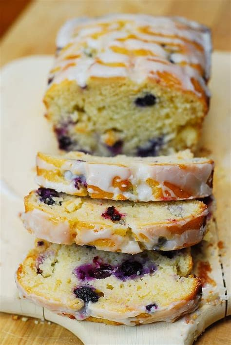 blueberry vanilla bread  lemon glaze