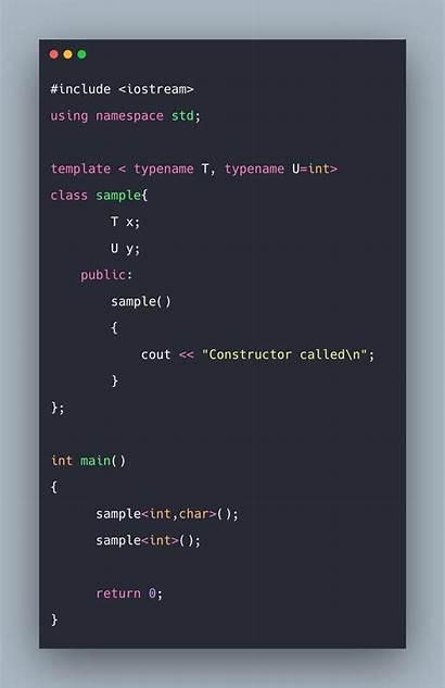Template Example Templates Class Tutorial