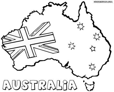 australian flag coloring pages coloring pages    print