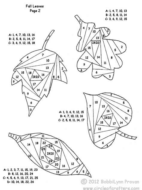 printable iris folding patterns iris folding leaves