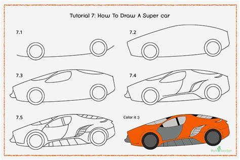 draw  car step  step  kids drawings