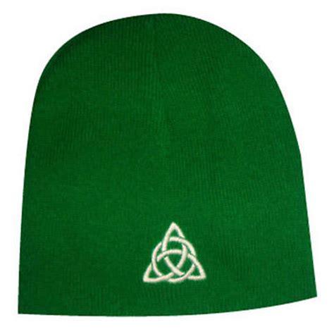 celtic trinity knot beanie hat green  irishshopcom