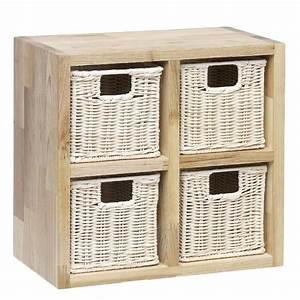 Meuble De Rangement Avec Panier : rangement 4 paniers tiroirs achat vente casier pour meuble cdiscount ~ Teatrodelosmanantiales.com Idées de Décoration