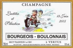 Etiquette Champagne Mariage : champagne de vigneron bourgeois boulonnais pour votre mariage personnalisez vos bouteilles de ~ Teatrodelosmanantiales.com Idées de Décoration