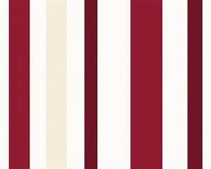tapeten mit streifen hause deko ideen With balkon teppich mit tapete rot weiß gestreift