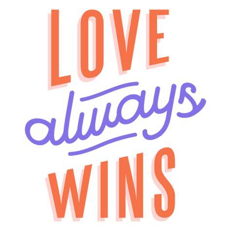 Love always wins stripe sticker - Transparent PNG & SVG vector file