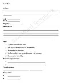 free sle of resume for application blank cv applications resume template free for microsoft office blank resume