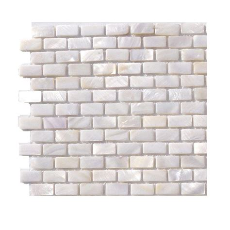 Of Pearl Mini Subway Tile by Splashback Tile Pitzy Brick Castel Monte White Pearl