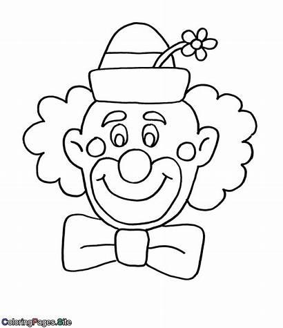 Purim Coloring Clown