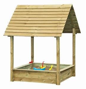 Bac à Sable Bois : bac sable en bois avec abri oogarden france ~ Premium-room.com Idées de Décoration