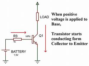 Working Concept Of Npn Transistor As A Switch