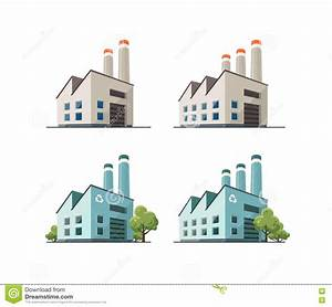 Factory Building Illustration Stock Vector - Image: 74968782